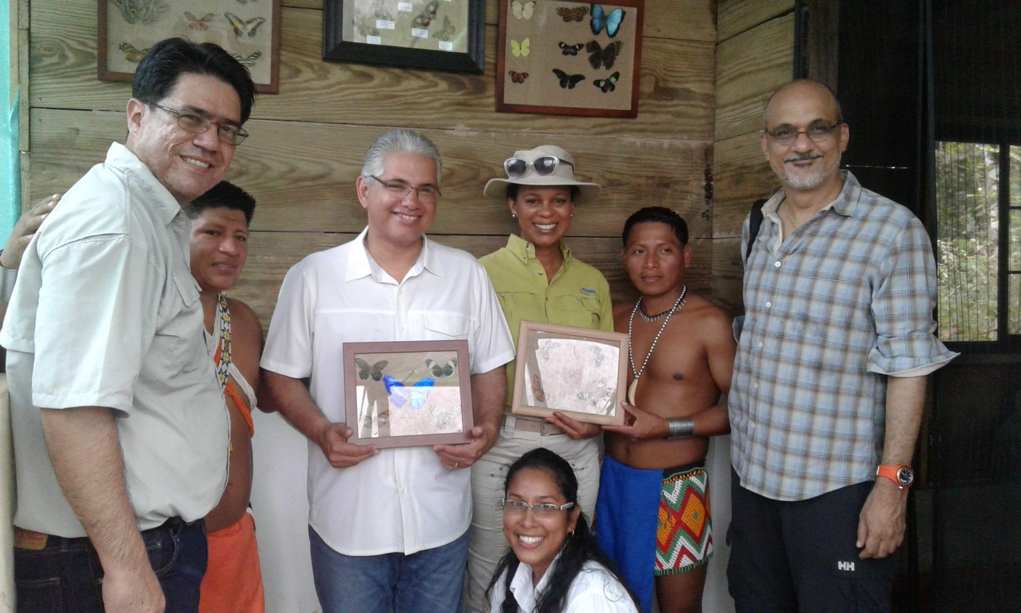 Inauguración Laboratorio de Mariposario, Comunidad Emberá Tusipono